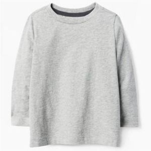 Gymboree Boy's Basic Long Sleeve Grey Tee NWT